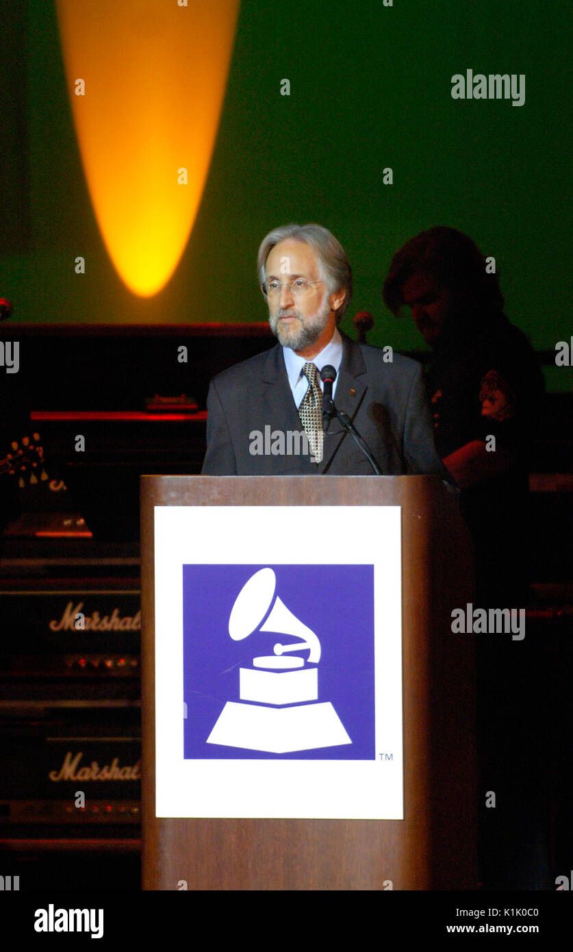 Neil Portnow speaking 10th Annual GRAMMY Foundation Music Preservation Project Wilshire Ebell Theater Los Angeles,Ca. - Stock Image