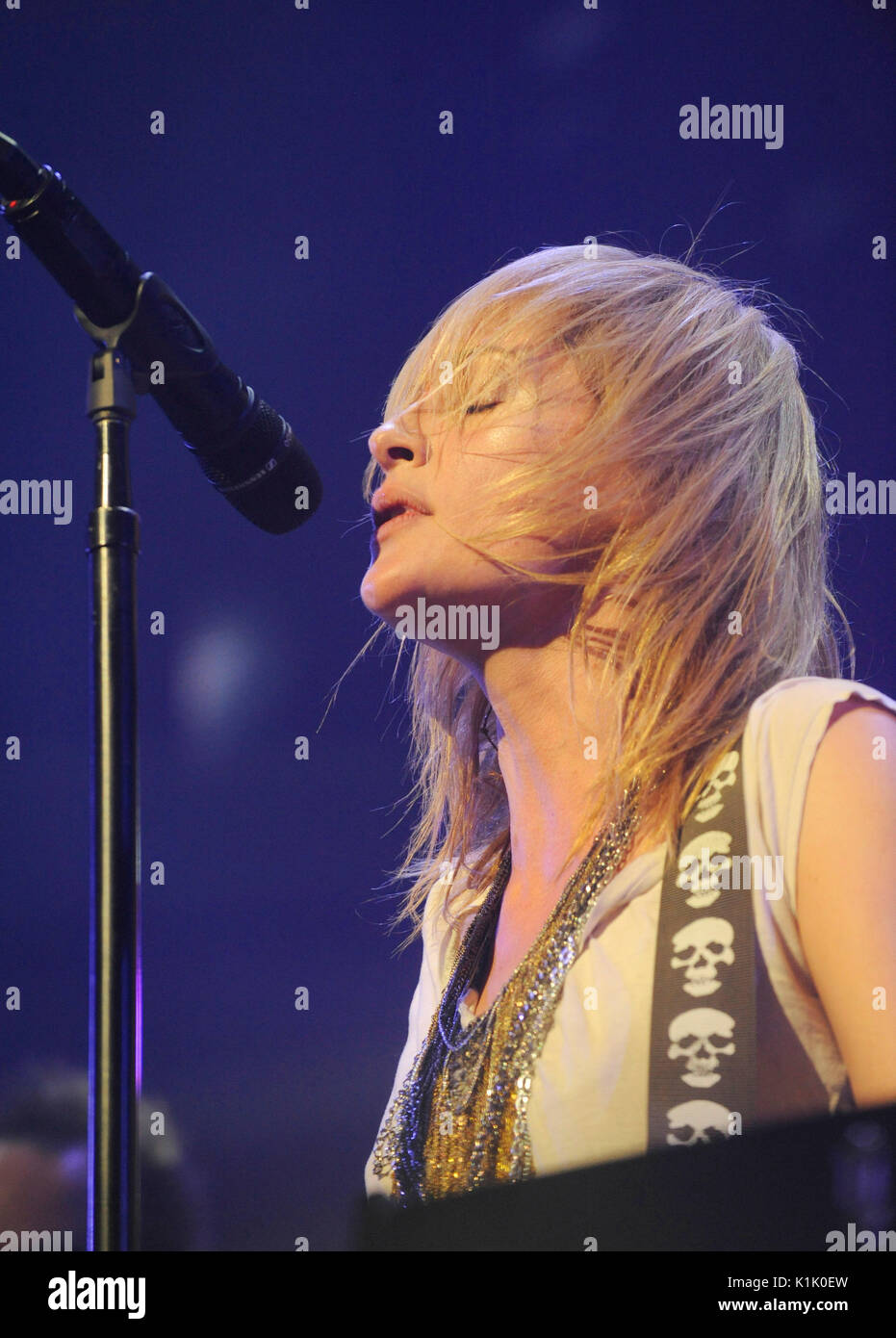 Emily Haines Metric performs 2009 KROQ Almost Acoustic Christmas Night 2 Gibson Amphitheatre Los Angeles. Stock Photo