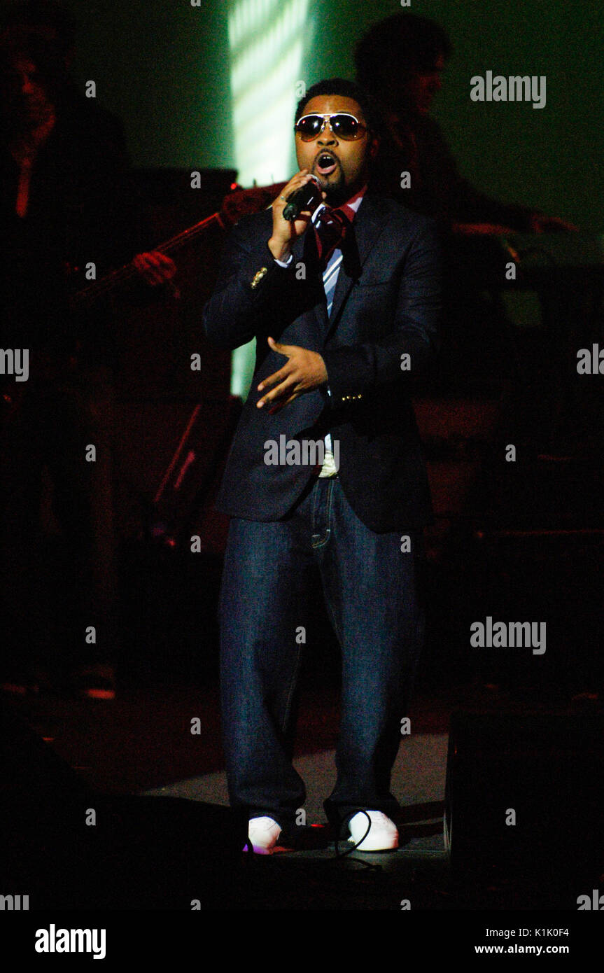 Musiq Soulchild performing 10th Annual GRAMMY Foundation Music Preservation Project Wilshire Ebell Theater Los Angeles,Ca. - Stock Image