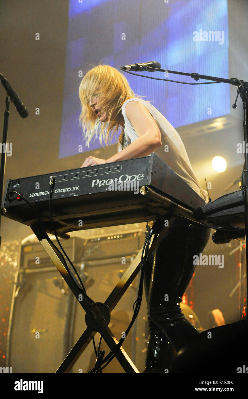 Emily Haines Metric performs 2009 KROQ Almost Acoustic Christmas Night 2 Gibson Amphitheatre Los Angeles. - Stock Image