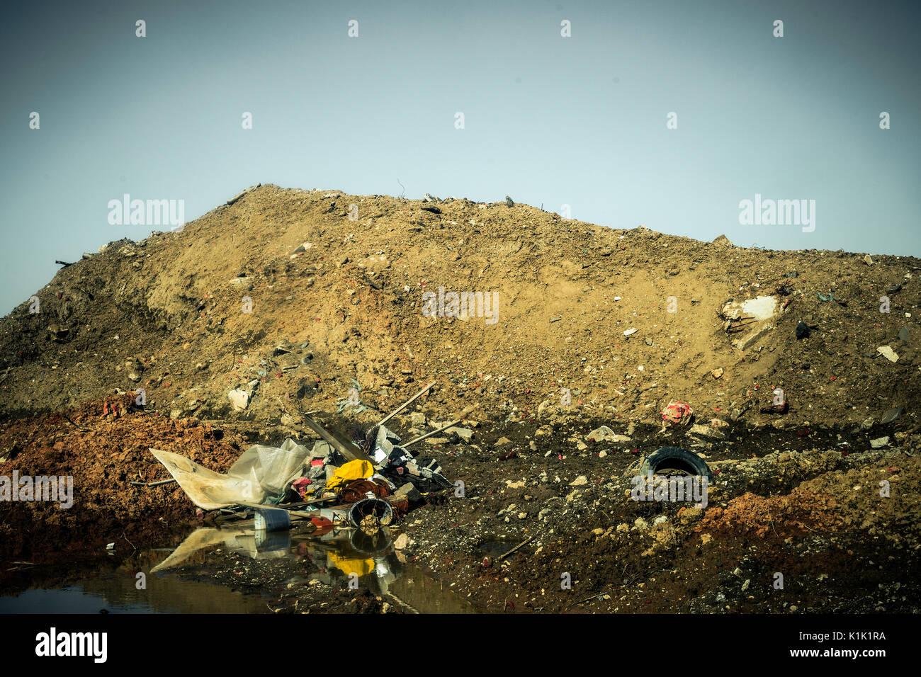 illegal dump - Stock Image