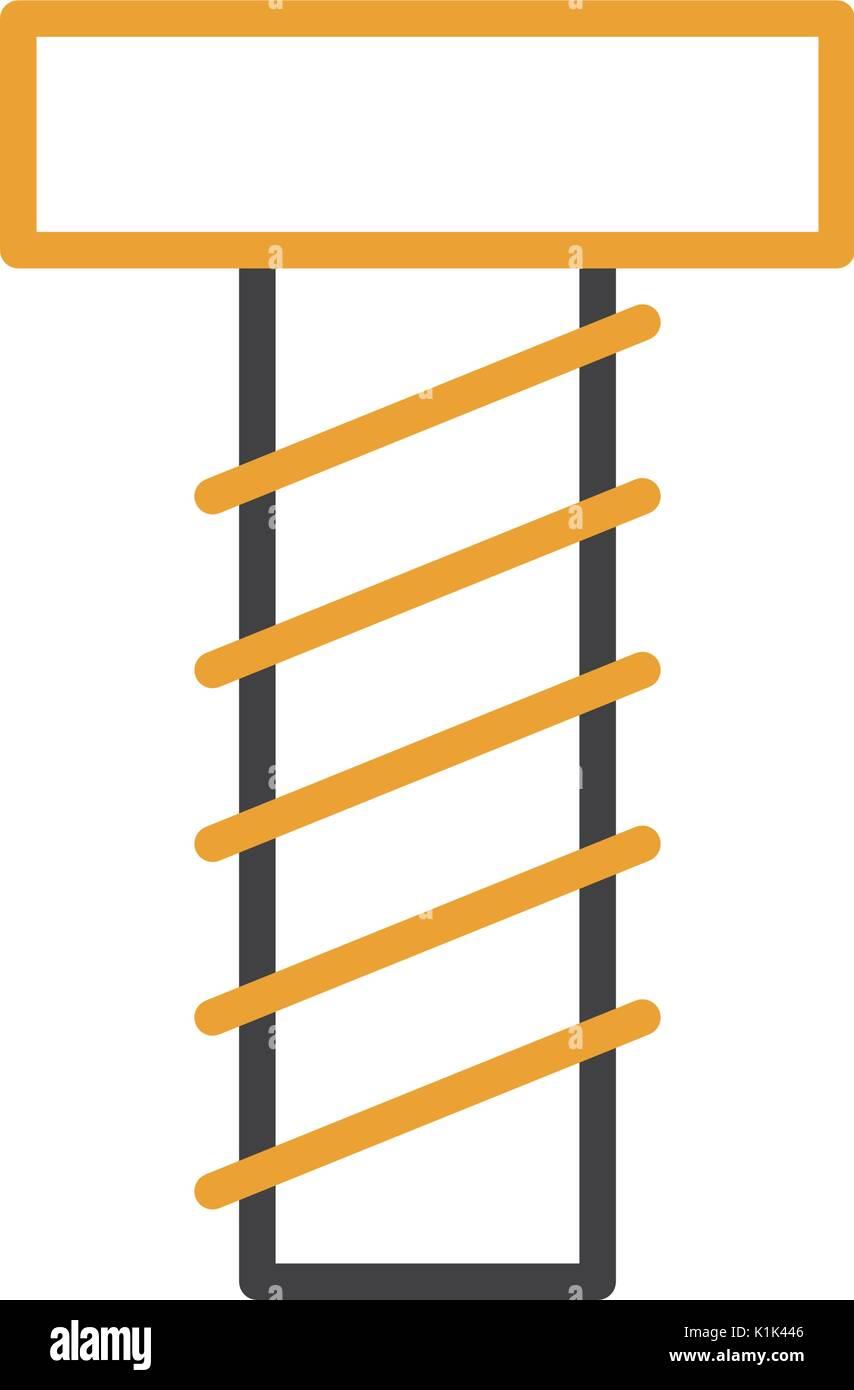 screw tool isolated icon - Stock Vector