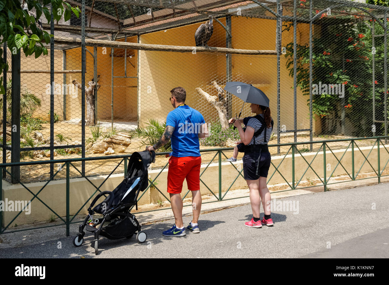 Visitors at the Rome Zoo, Italy - Stock Image