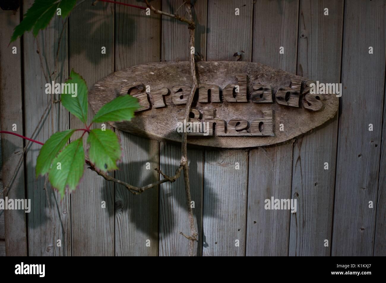 Grandads Shed Wooden Garden Sign