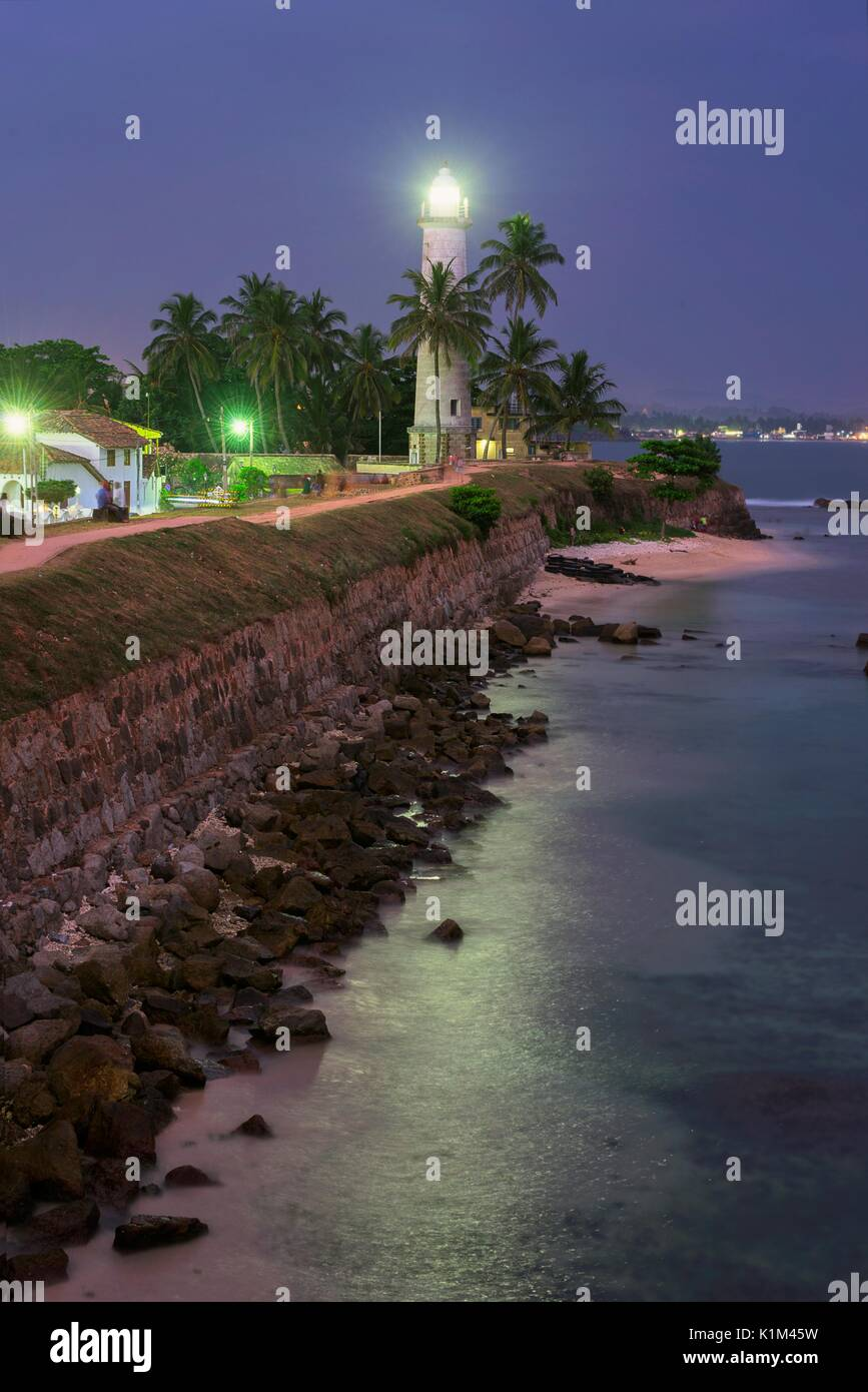 Galle lighthouse, Sri Lanka - Stock Image
