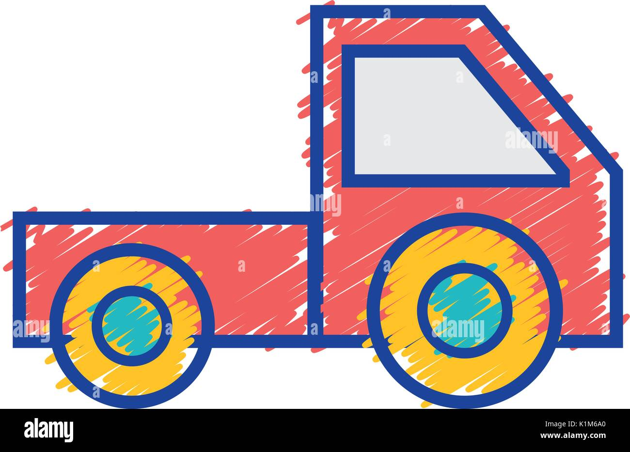 trunk vehicle transportation style design - Stock Vector