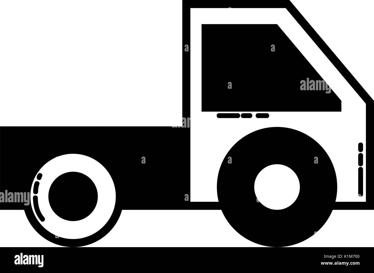 contour trunk vehicle transportation style design - Stock Vector