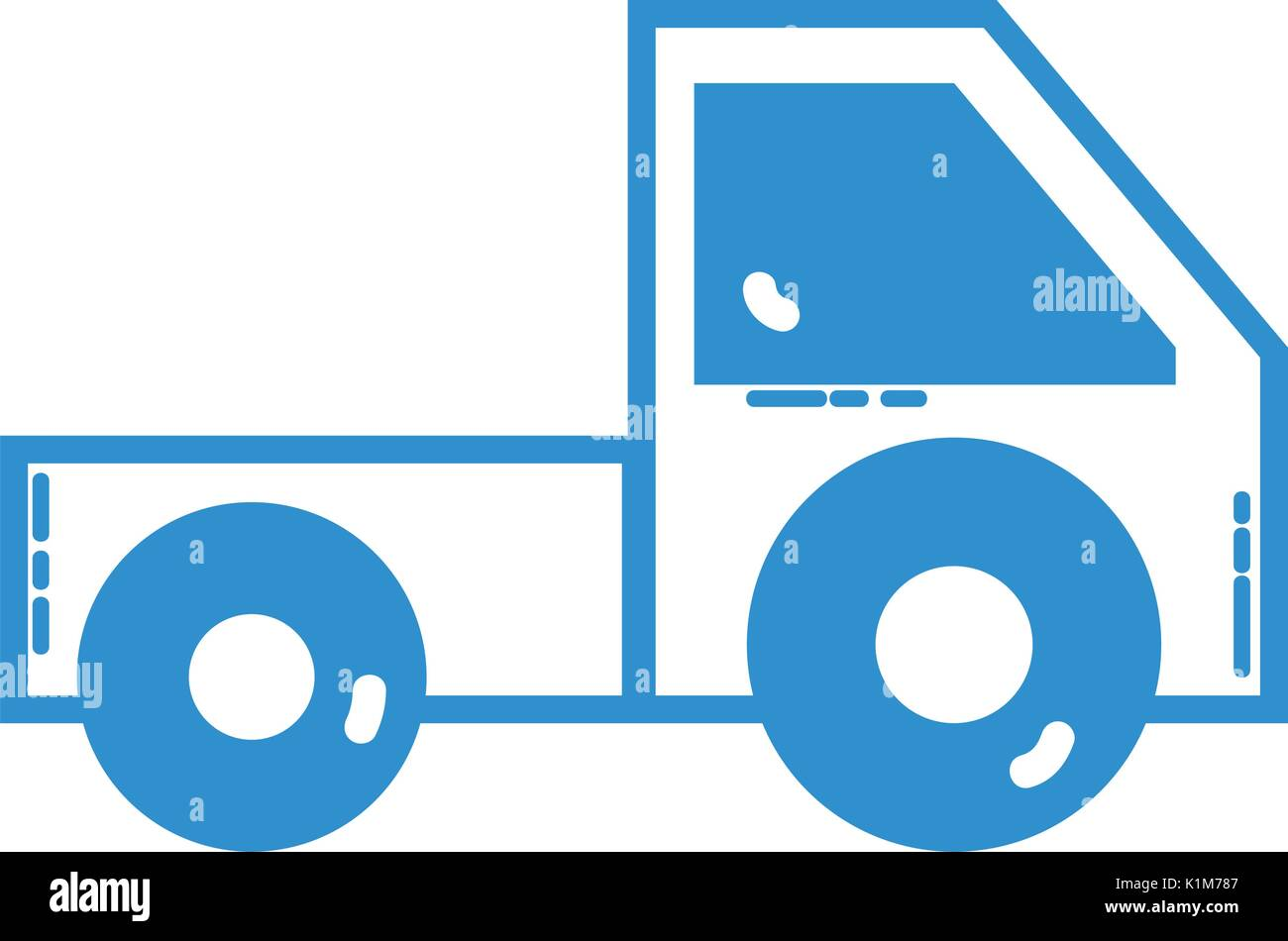 silhouette trunk vehicle transportation style design - Stock Vector