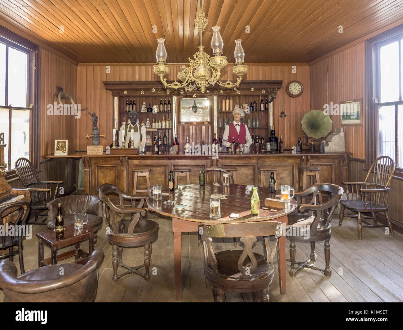Saloon, open-air museum at Big Hole, Kimberley, North Cape, South Africa - Stock Image