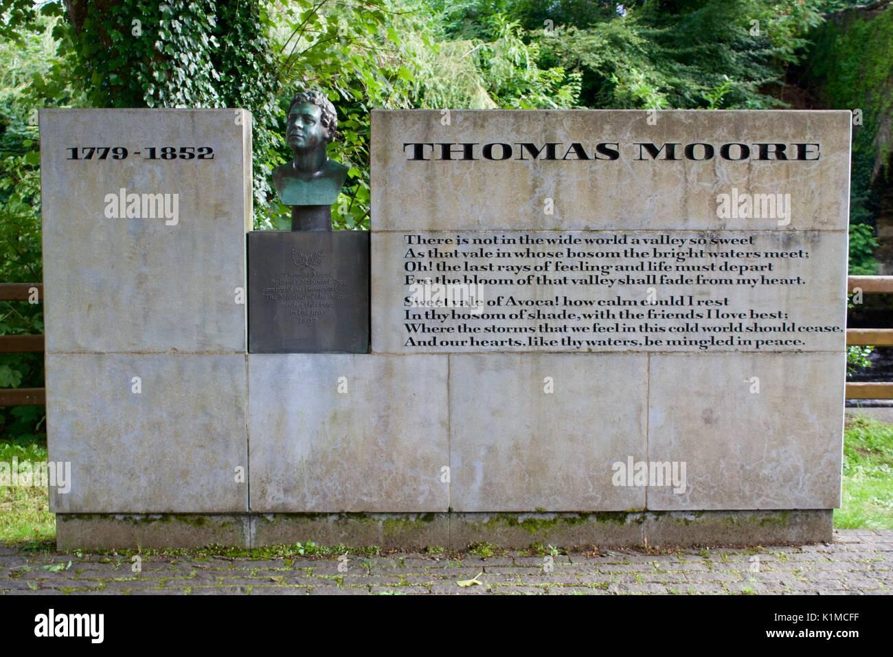 Thomas Moore Memorial - Stock Image