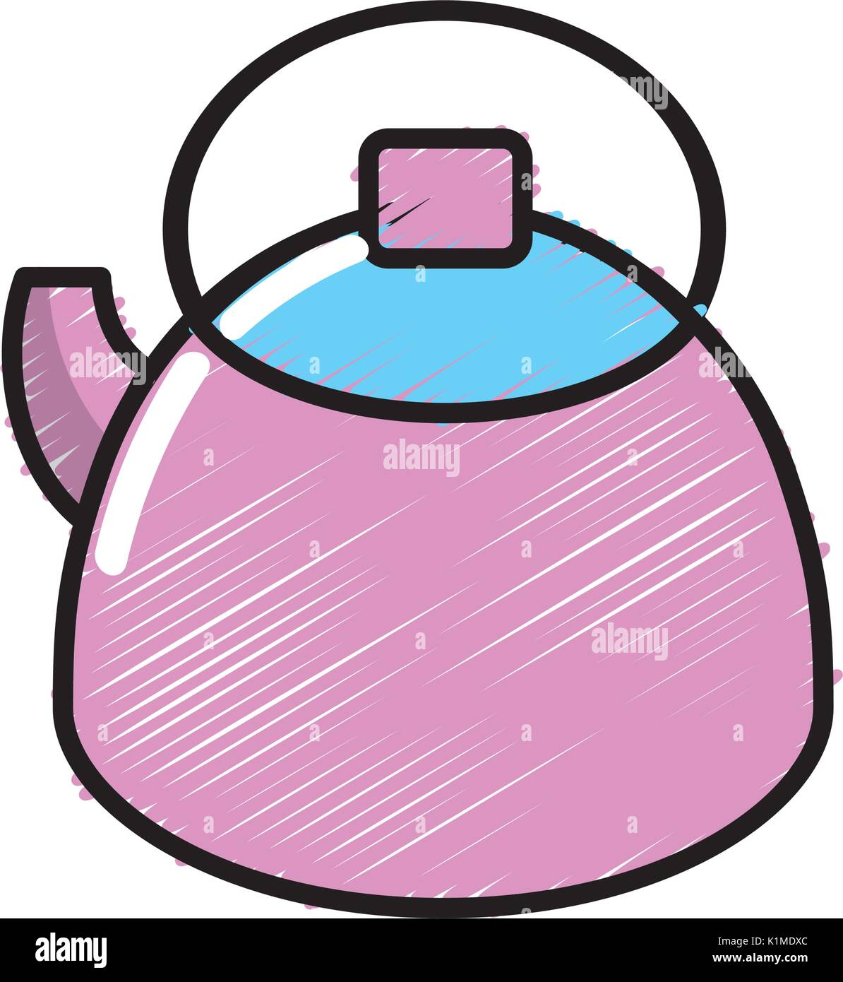 teapot kitchen utensil object to cuisine - Stock Vector