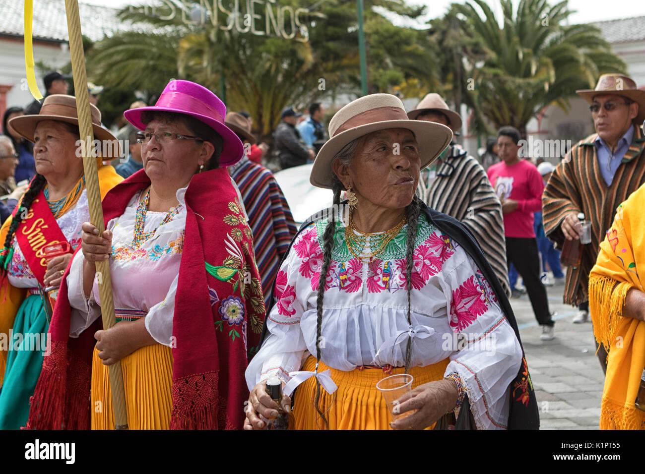 Corpus Christi parade in Pujili Ecuador - Stock Image