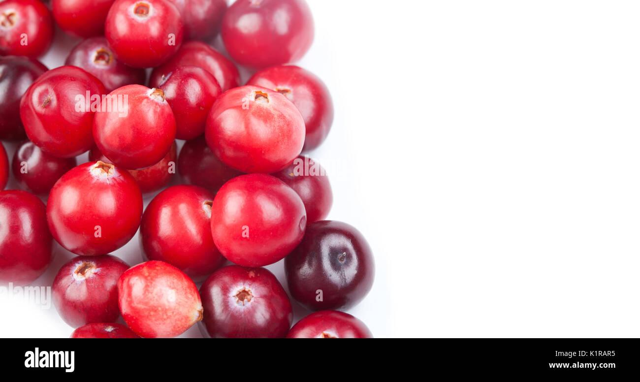 Natural, organic cranberry. close-up photo.  - Stock Image