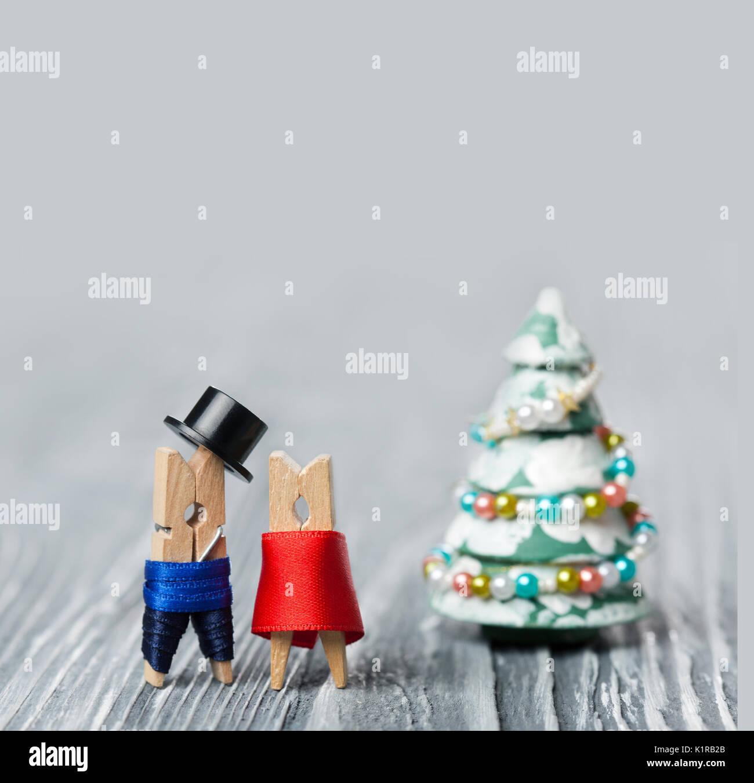 New Year Party Invitation Card Abstract Family And Santa