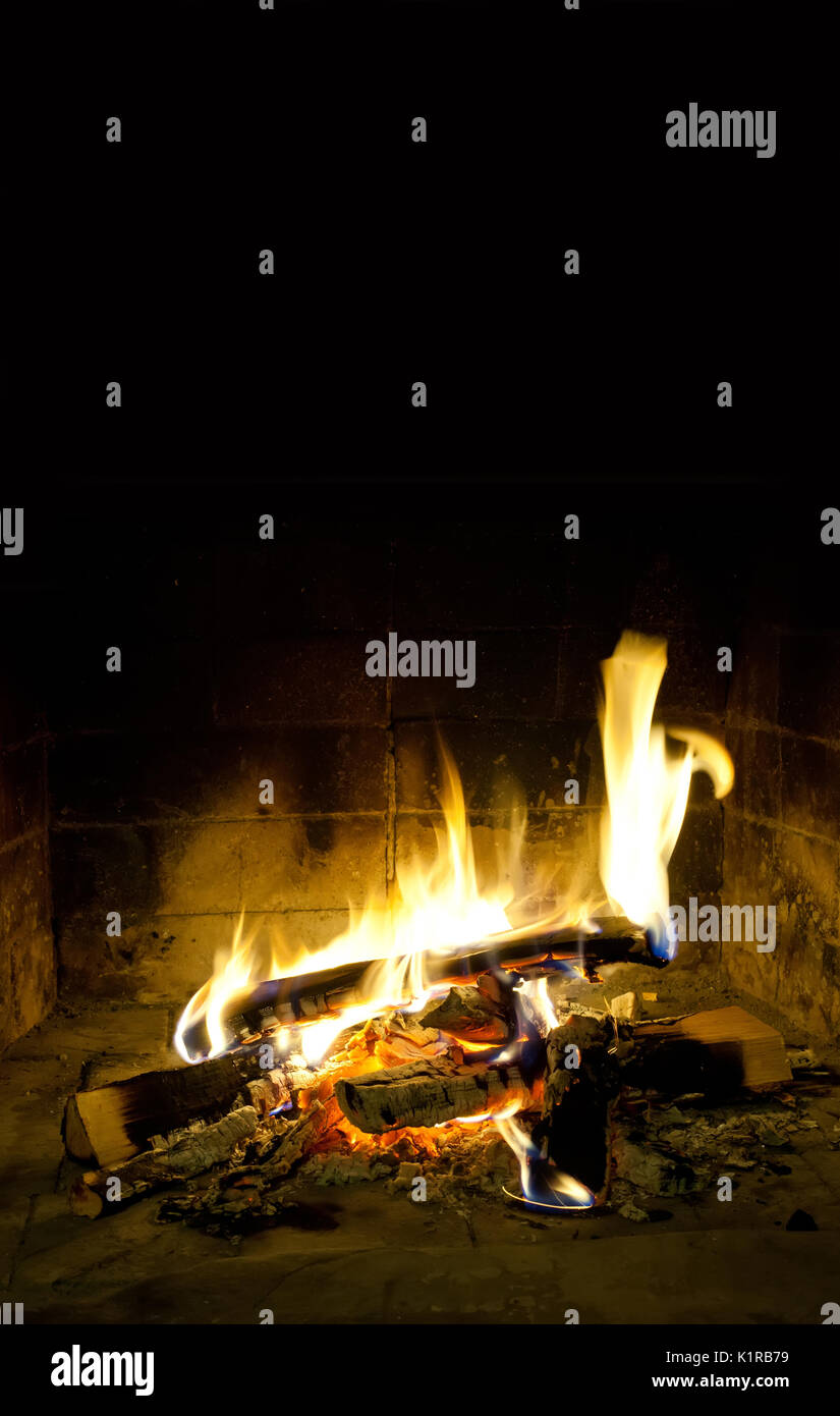 Mantelpiece interior. hearth and home. - Stock Image