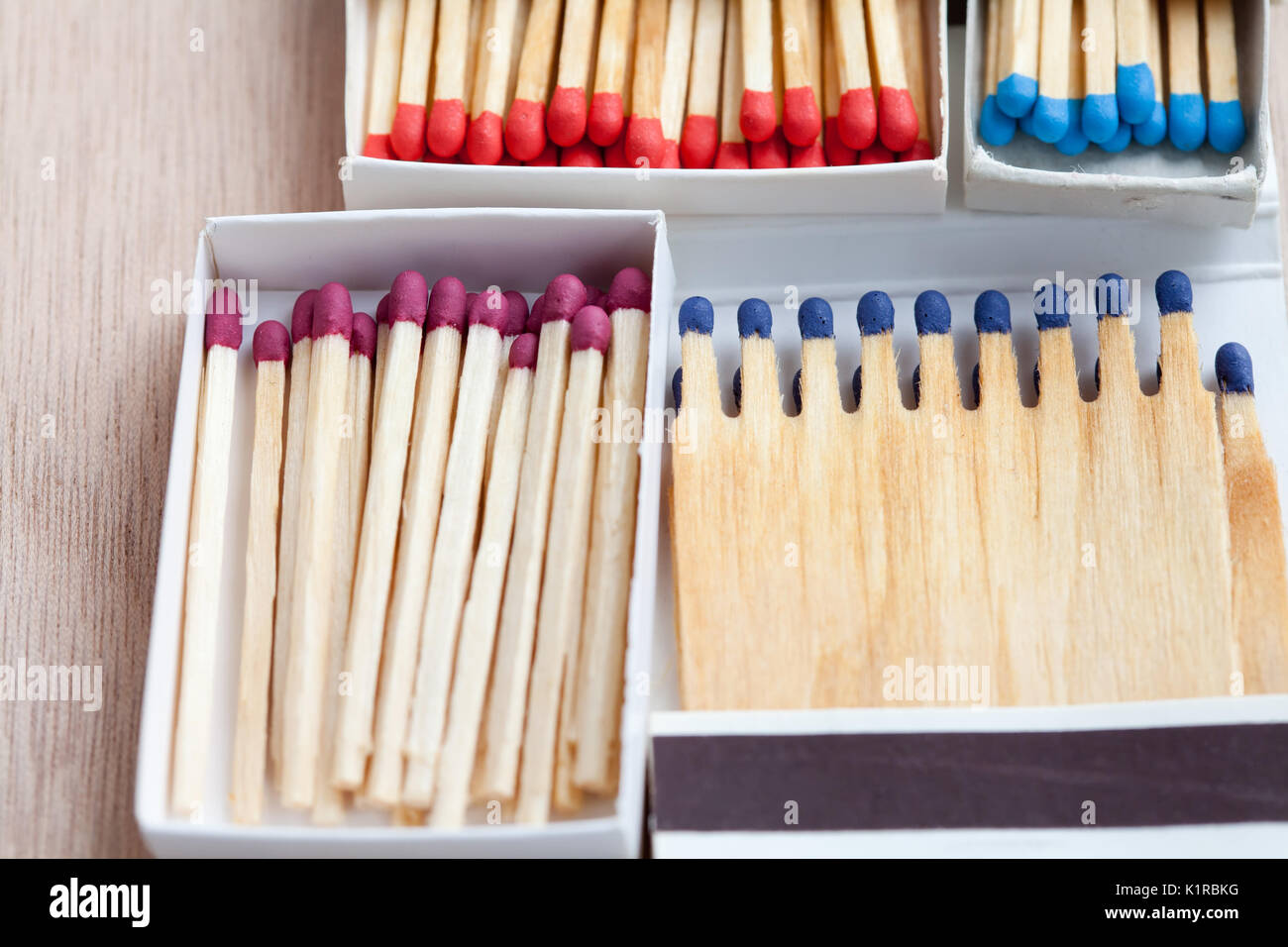multicolored matches  - Stock Image