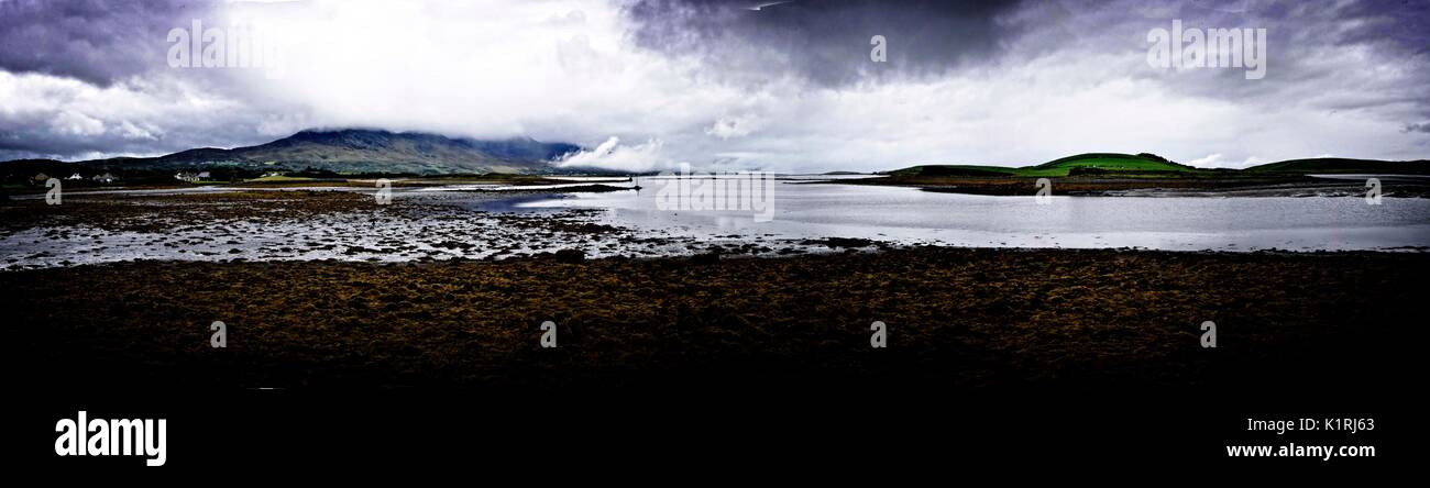Ireland Co Mayo Westport coastal panorama Stock Photo