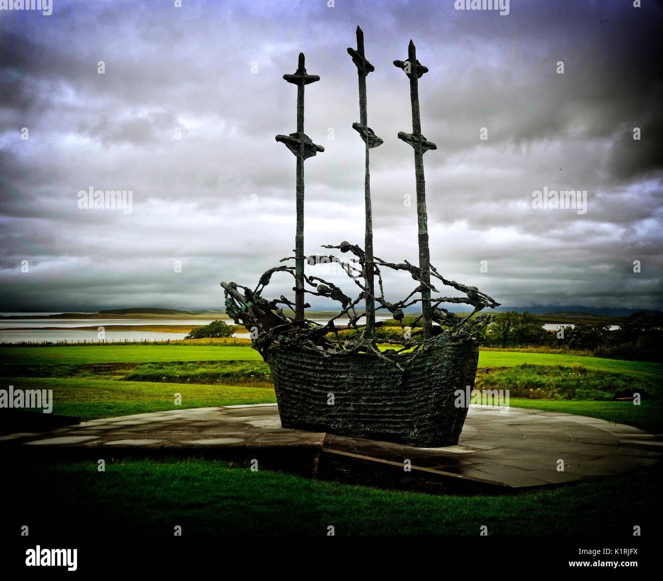 Ireland National Famine Monument, Westport Co. Mayo. - Stock Image