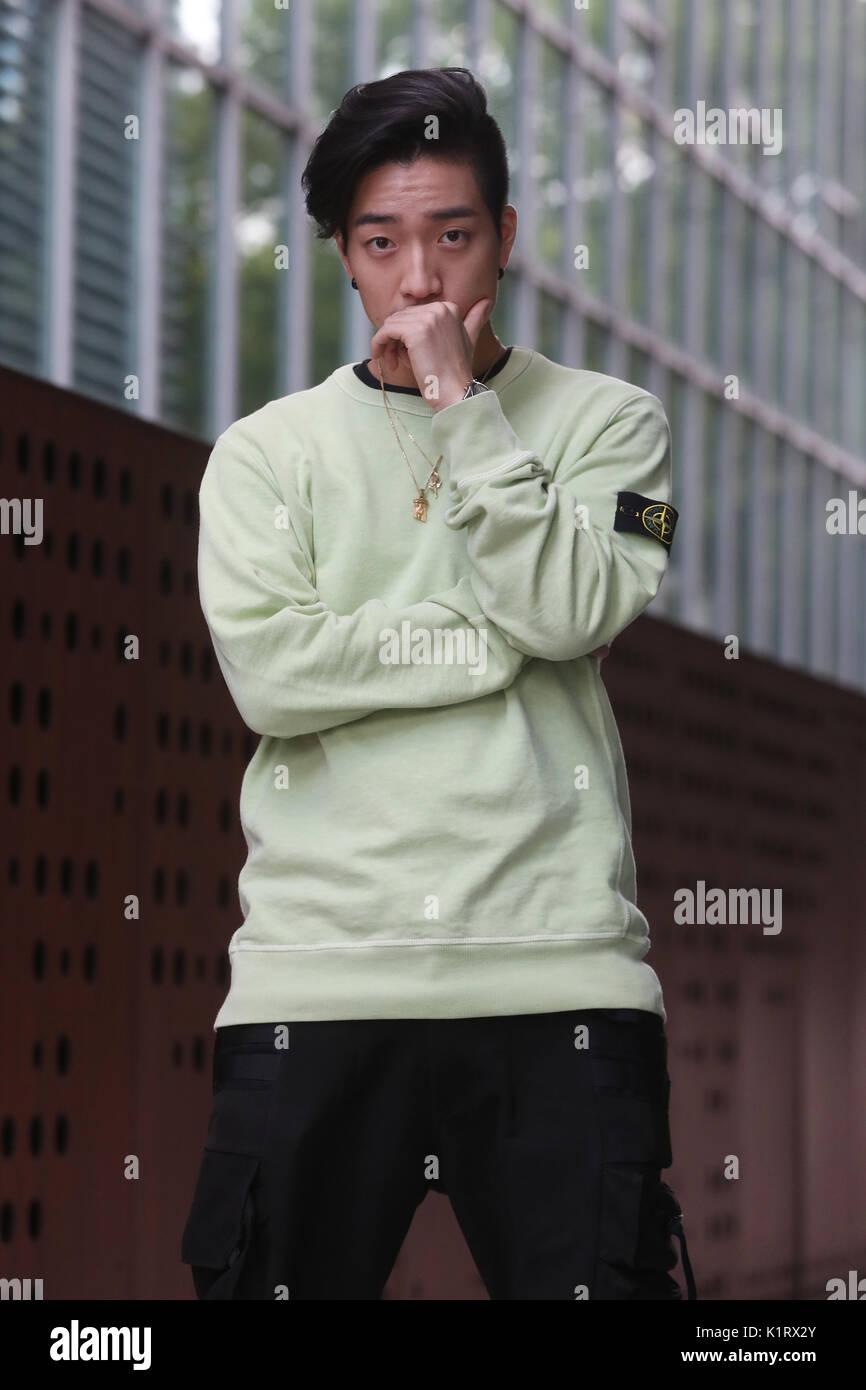 S Korean Rapper Junoflo South Korean Rapper Junoflo Who Starred In Stock Photo Alamy