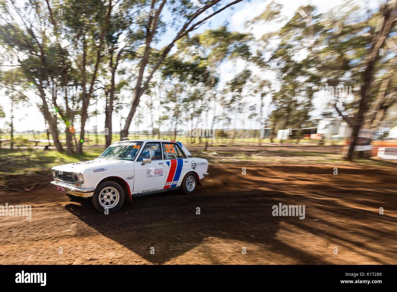 Avoca, Australia. 27th Aug, 2017. MELBOURNE, AUSTRALIA – AUGUST 27: Driver David Lawrance and Co Driver Darren Davison Stock Photo