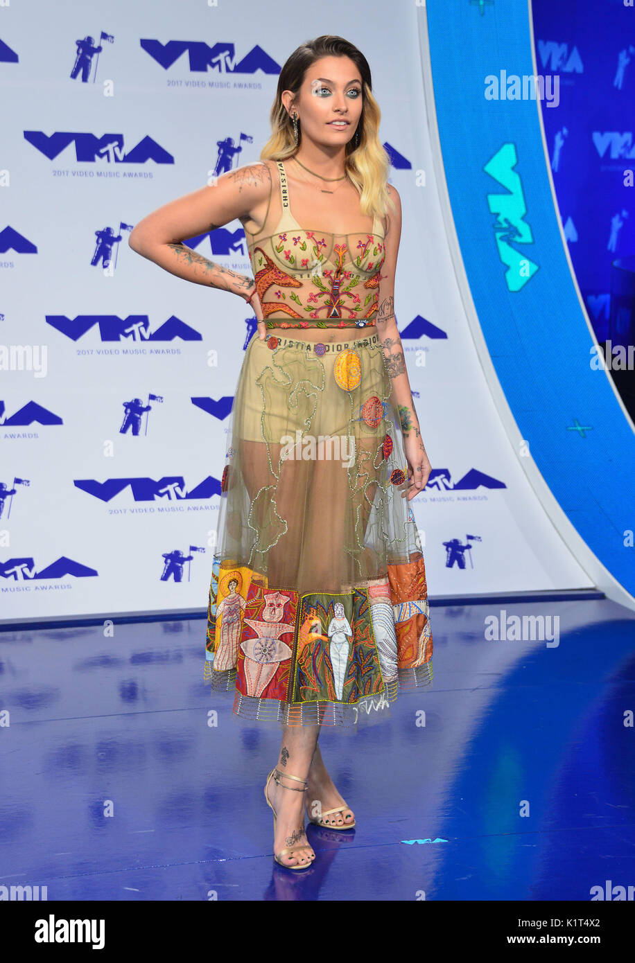 Los Angeles Usa 27th August 2017 Paris Jackson 167 Arriving At Stock Photo Alamy
