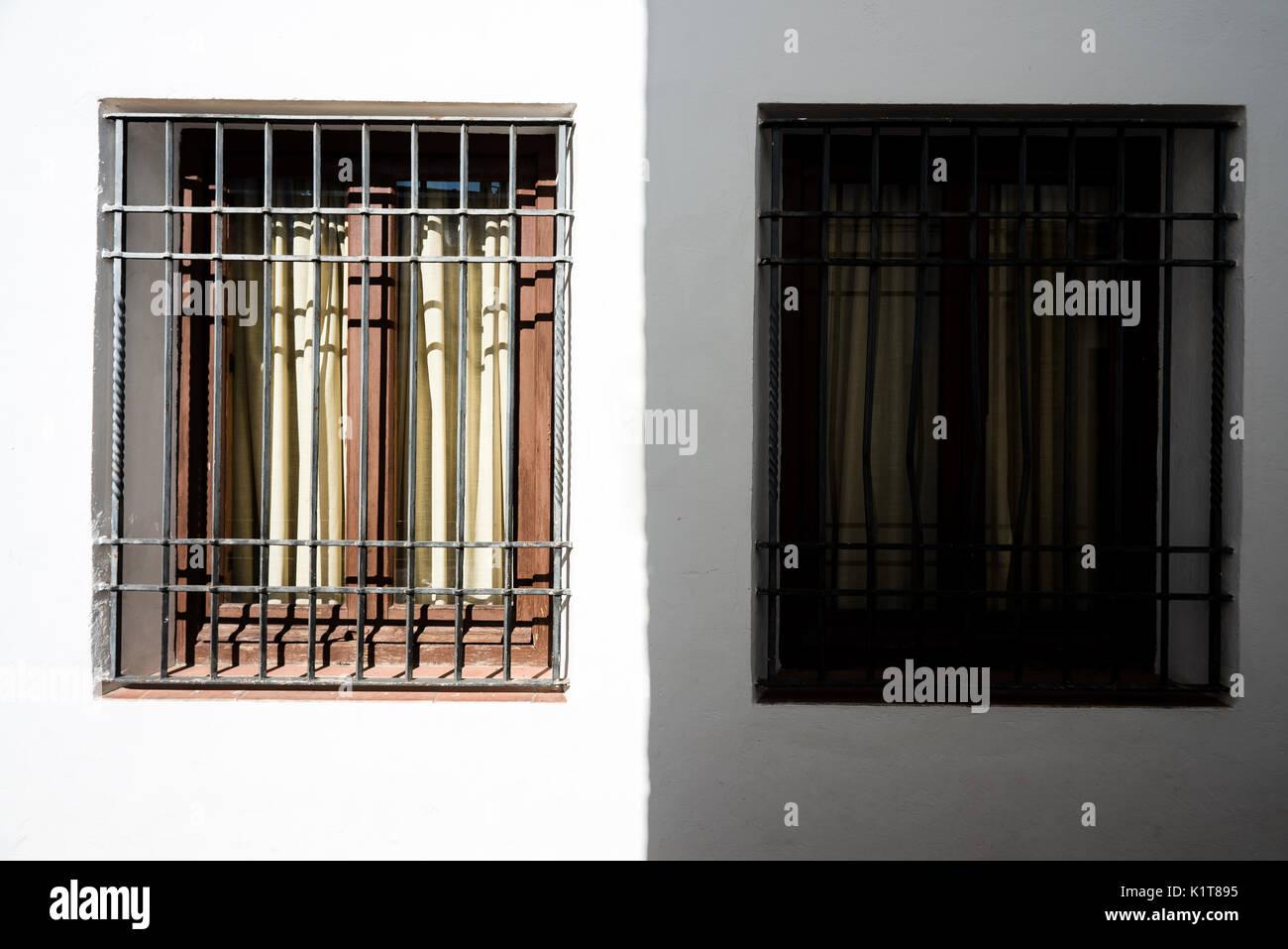 windows in Cordoba - Stock Image