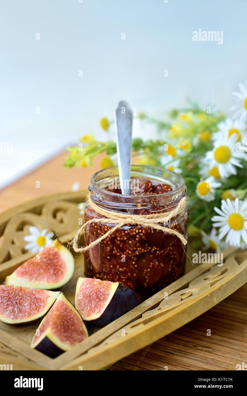 Fig jam - Stock Image