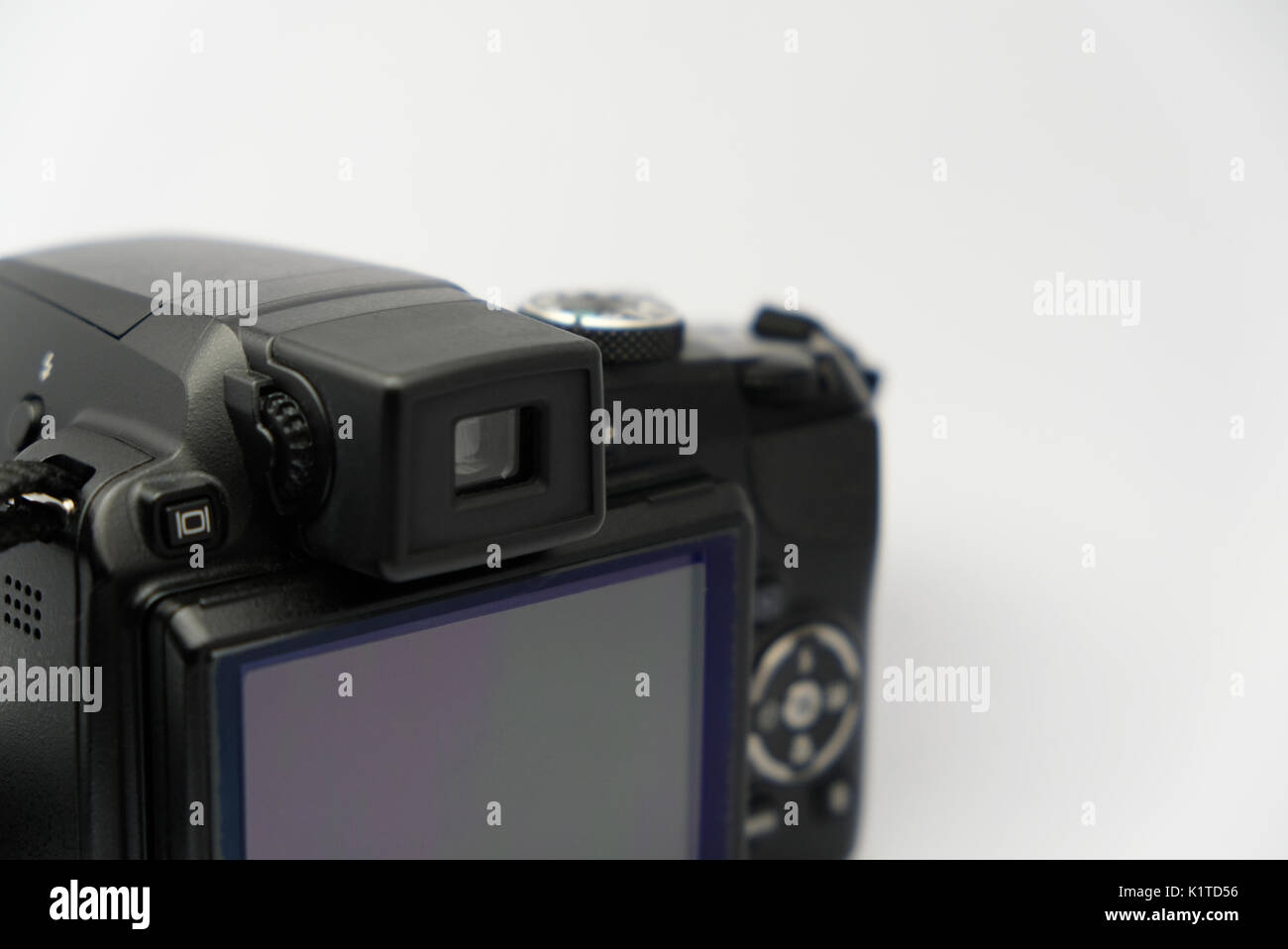 DLSR camera controls from the back - Stock Image