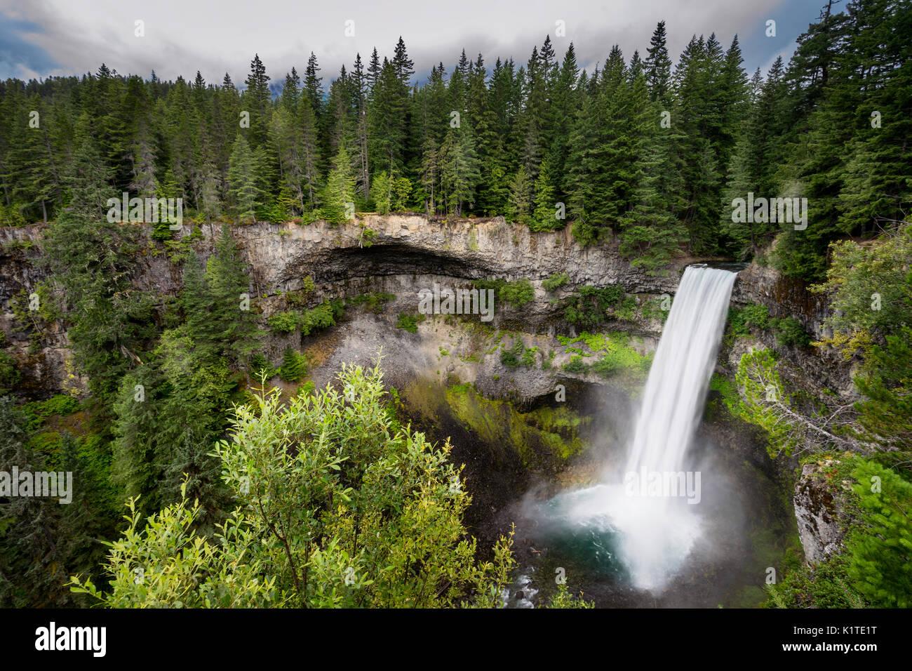Landscape photo of Brandywine Falls in Whistler, British Columbia, Canada - Stock Image