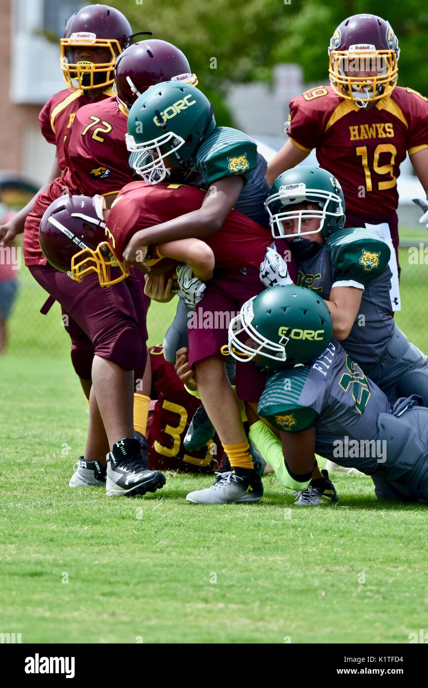 Youth American football - Stock Image