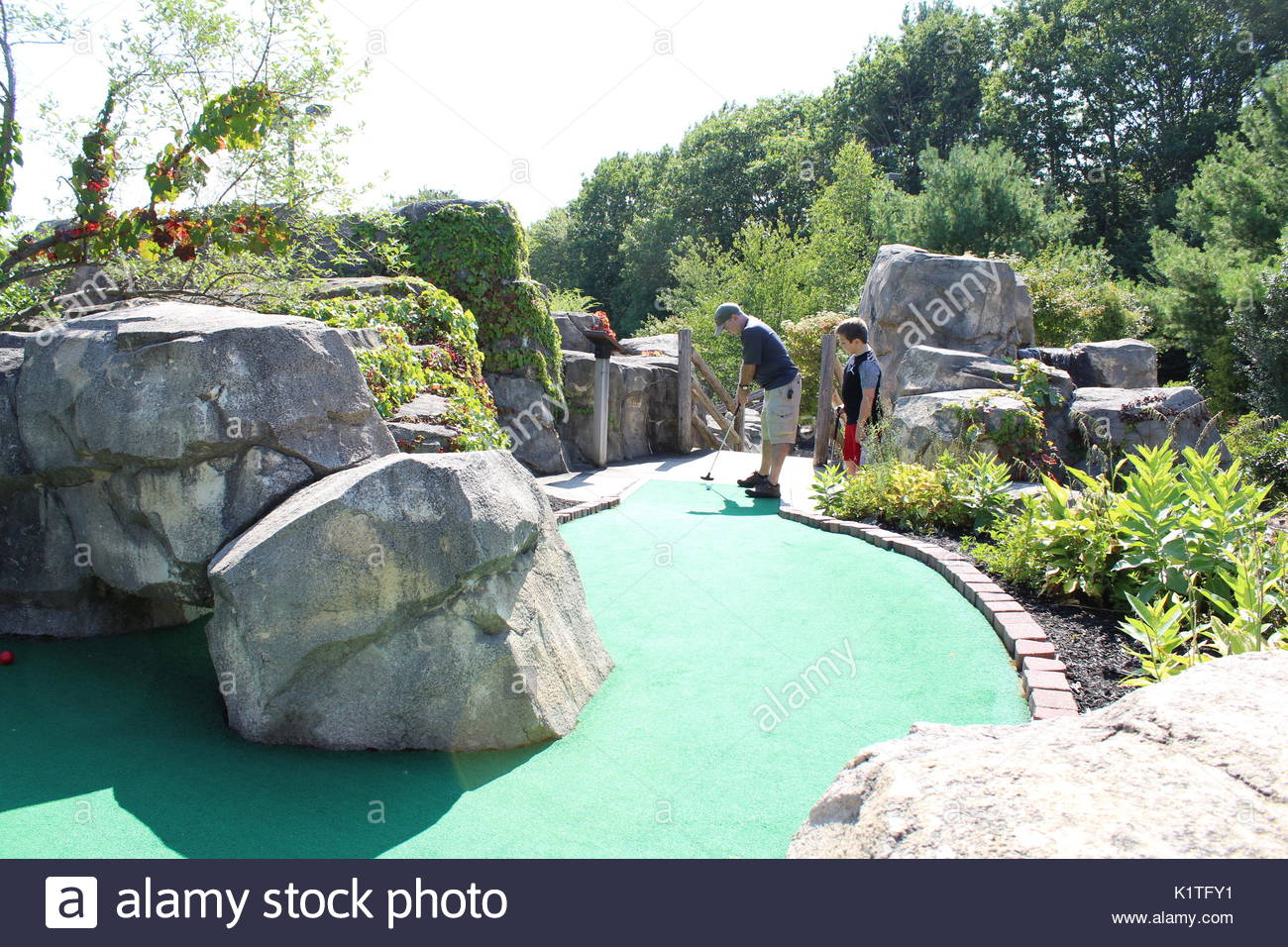 Day of Mini Golf Stock Photo