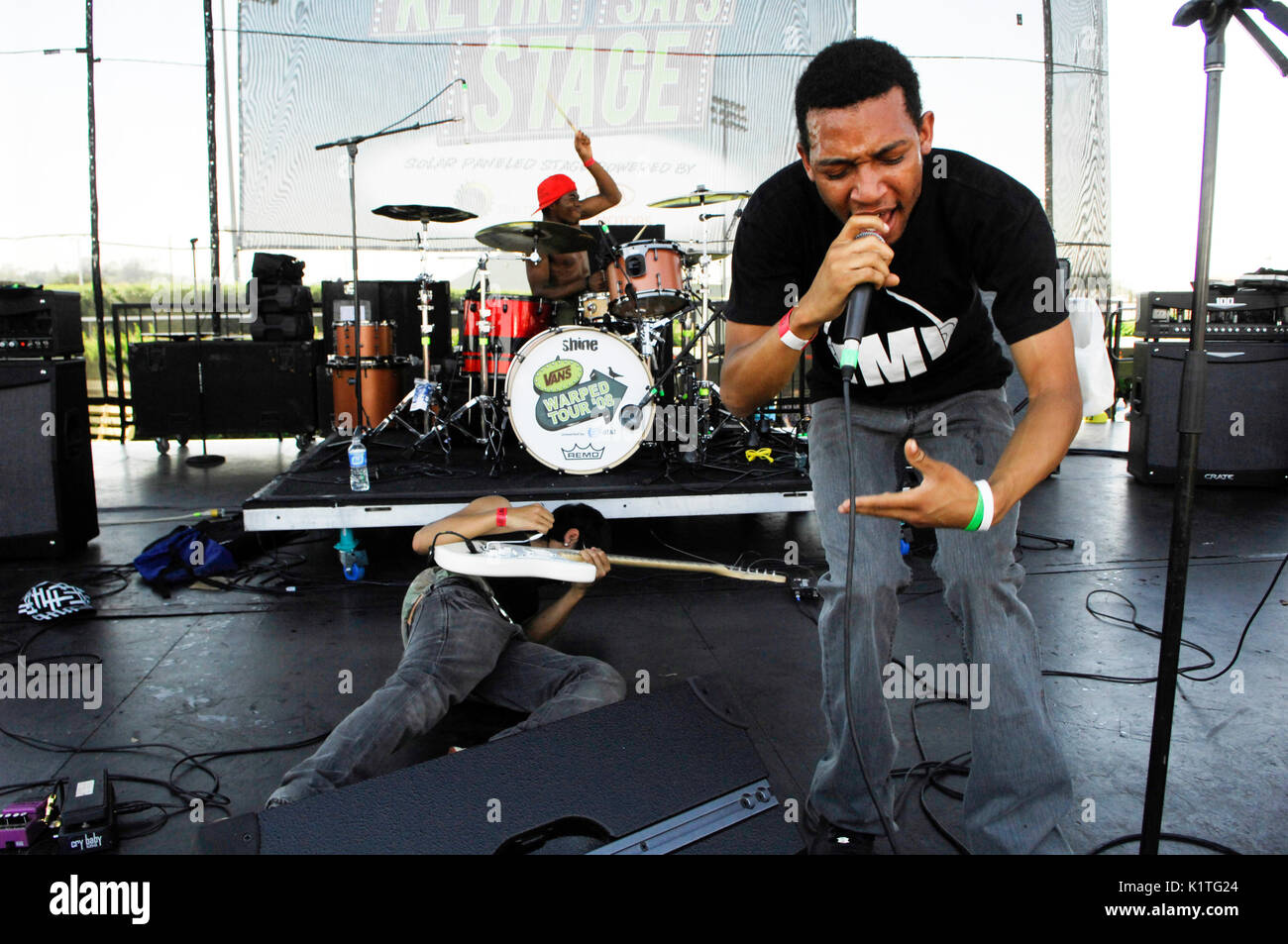 Mulato performing 2008 Vans Warped Tour Pomona Fairgrounds Pomona. - Stock Image
