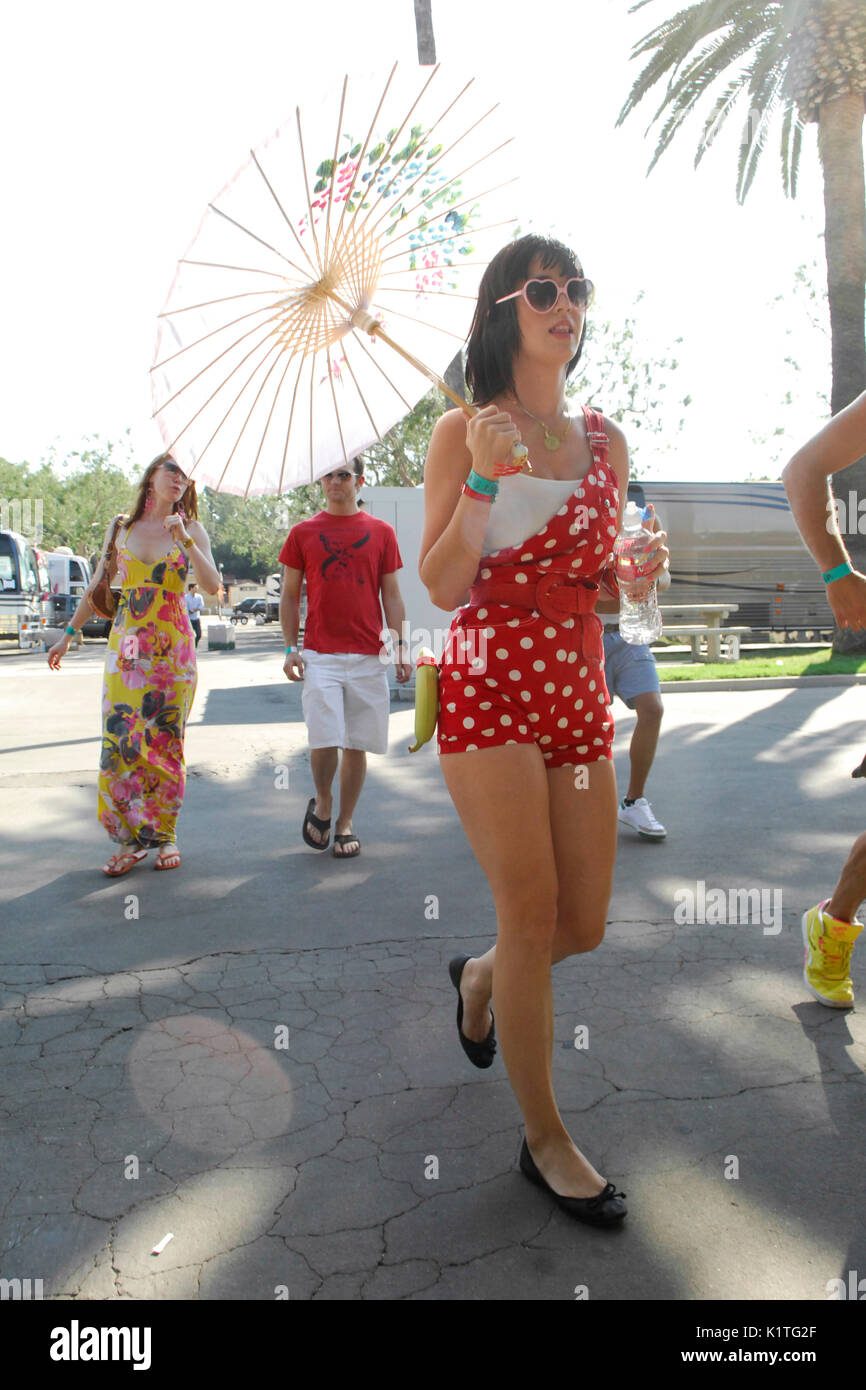 Singer Katy Perry backstage Warped Tour 2007 Pomona,California. - Stock Image