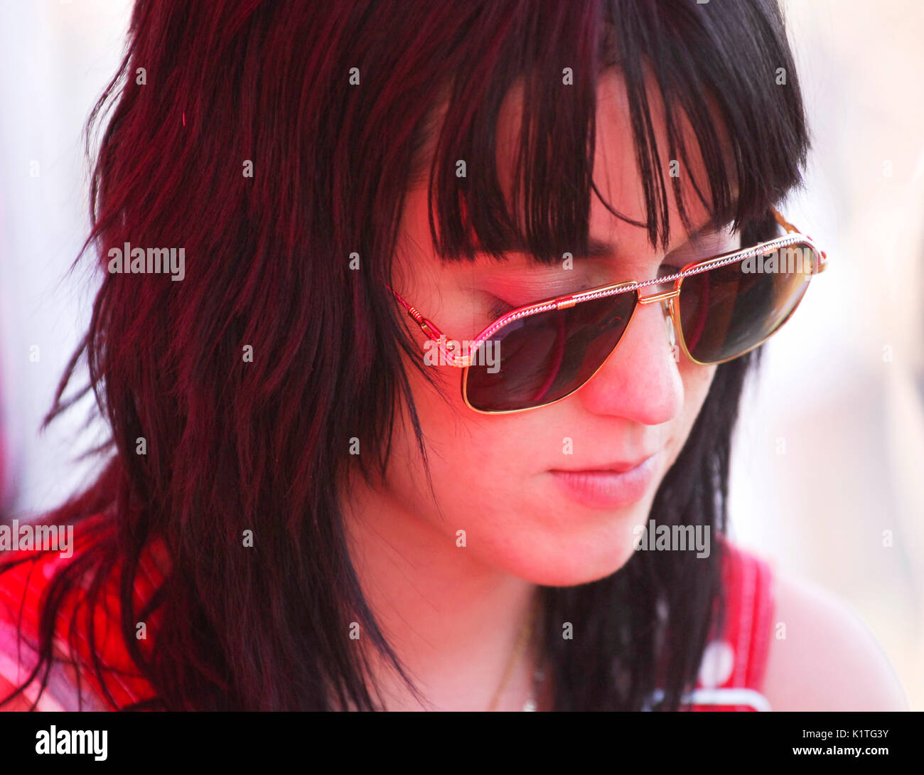 Katy Perry 2008 Vans Warped Tour Pomona Fairgrounds Pomona. - Stock Image