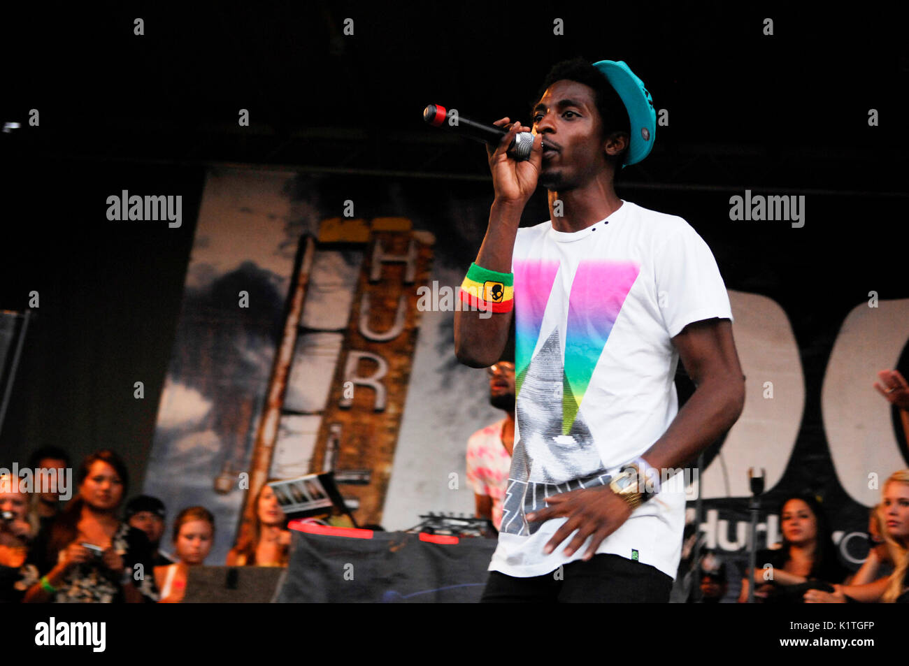 Shwayze performing 2008 Vans Warped Tour Coors Amphitheater San Diego. - Stock Image