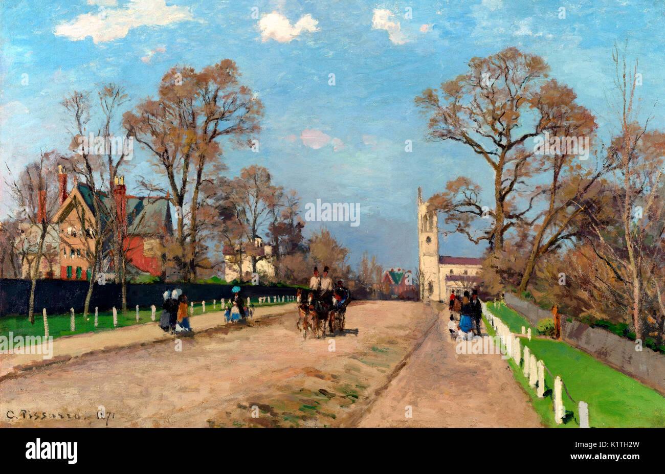 The Avenue, Sydenham, 1871 - Camille Pissarro - Stock Image