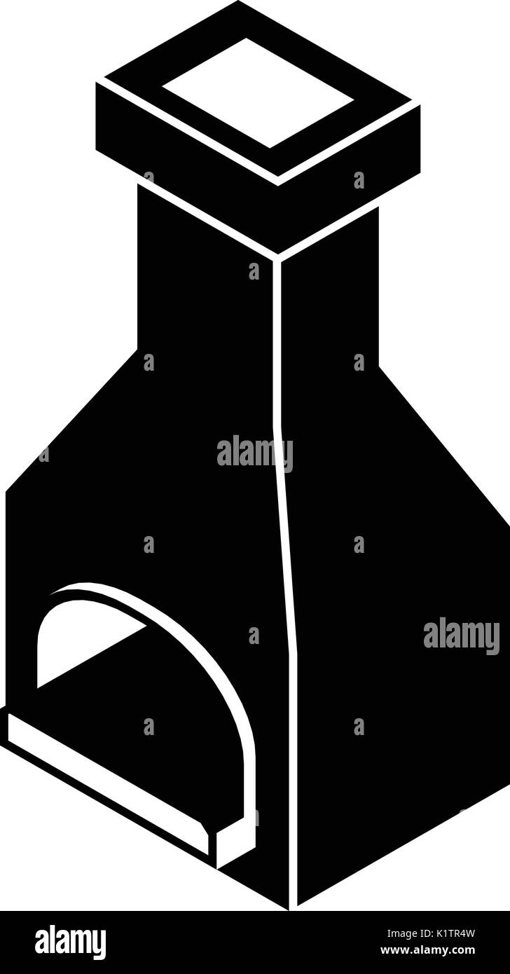 Old oven icon, simple black style - Stock Vector