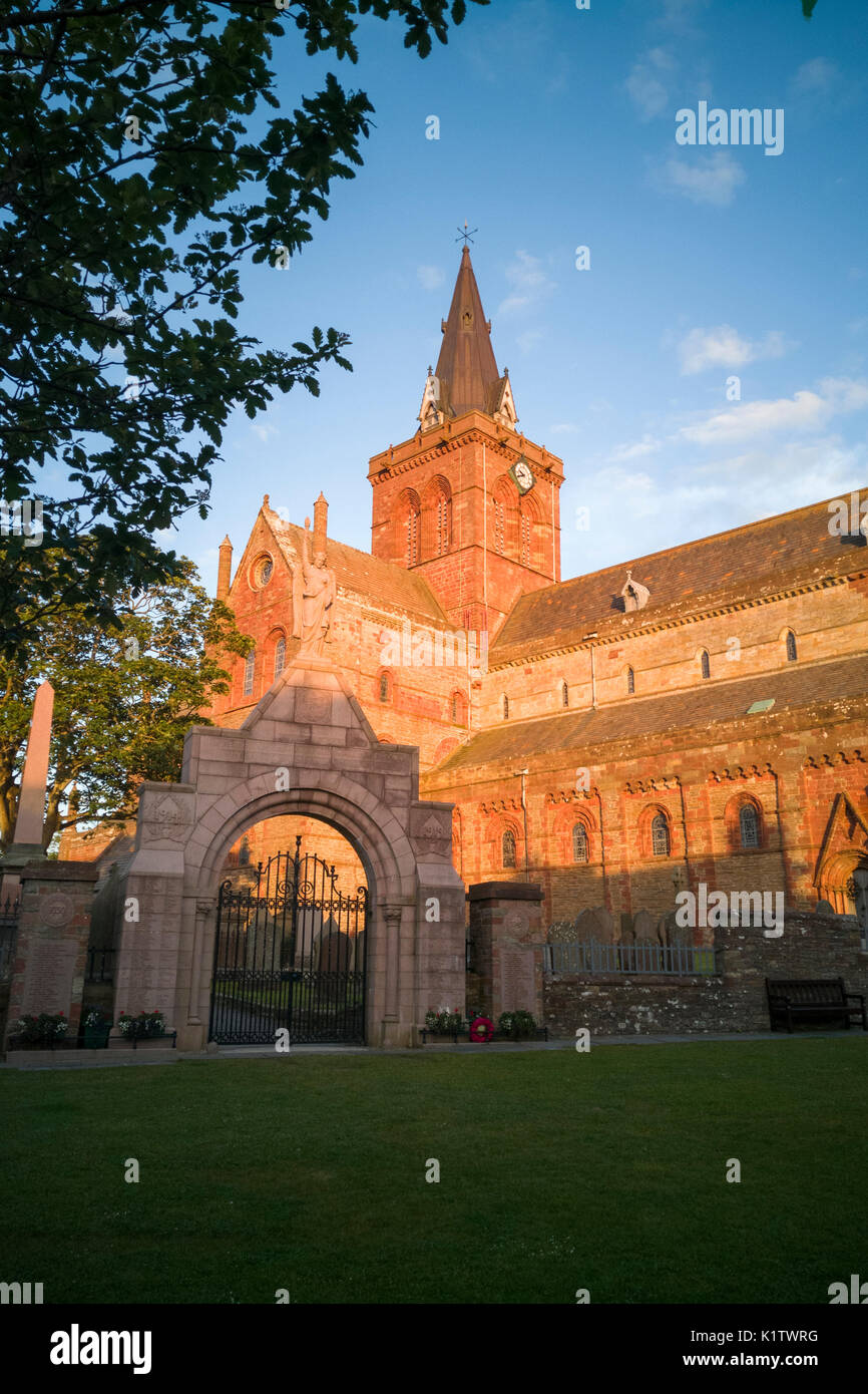 St Magnus Cathedral, Kirkwall, Orkney, Scotland - Stock Image