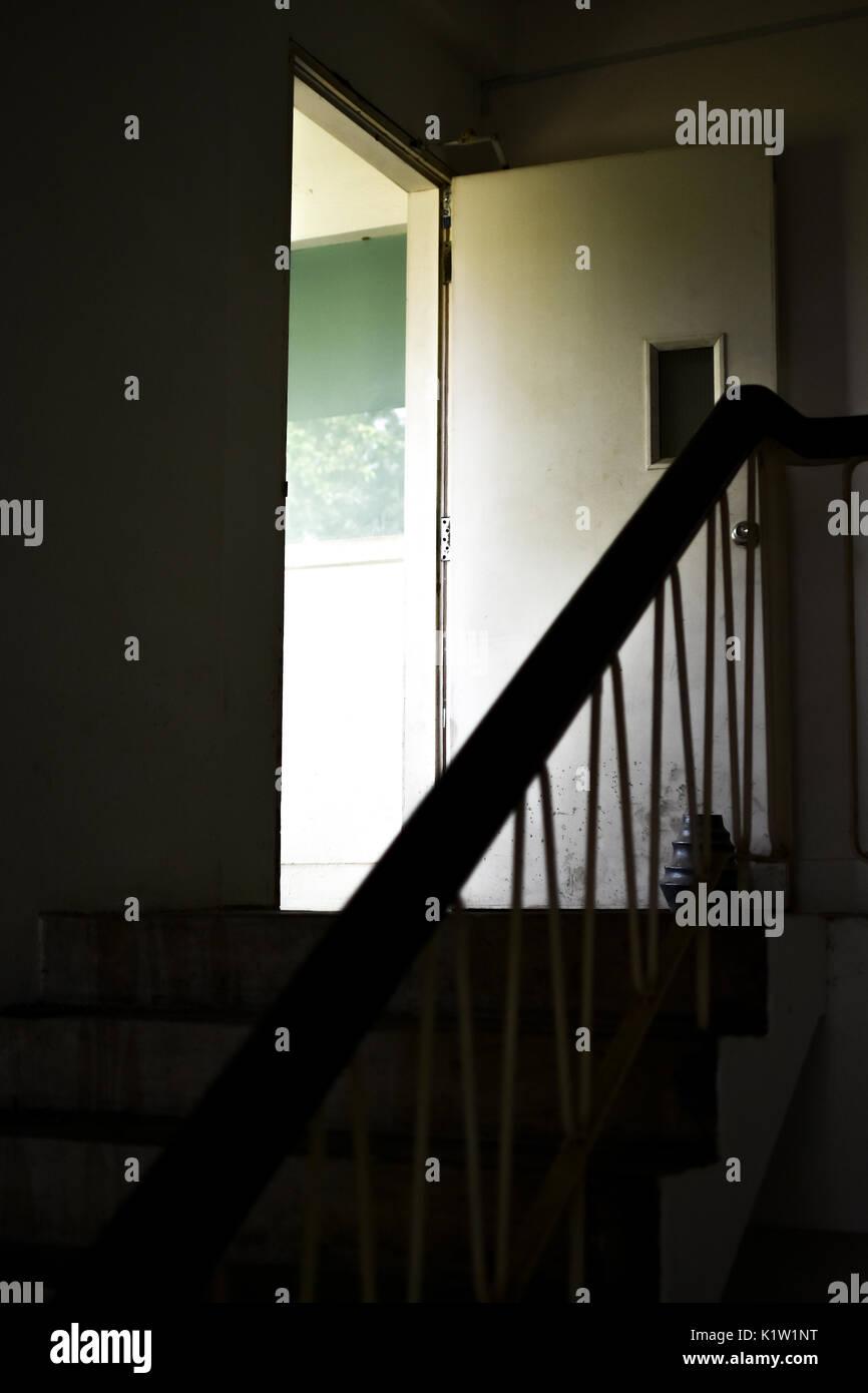 stairways to the pass - Stock Image