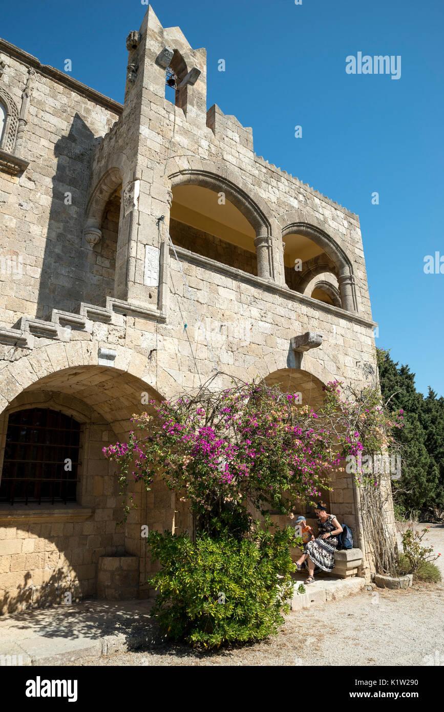 Filerimos Monastery, Ialysos, Rhodes, Greece - Stock Image