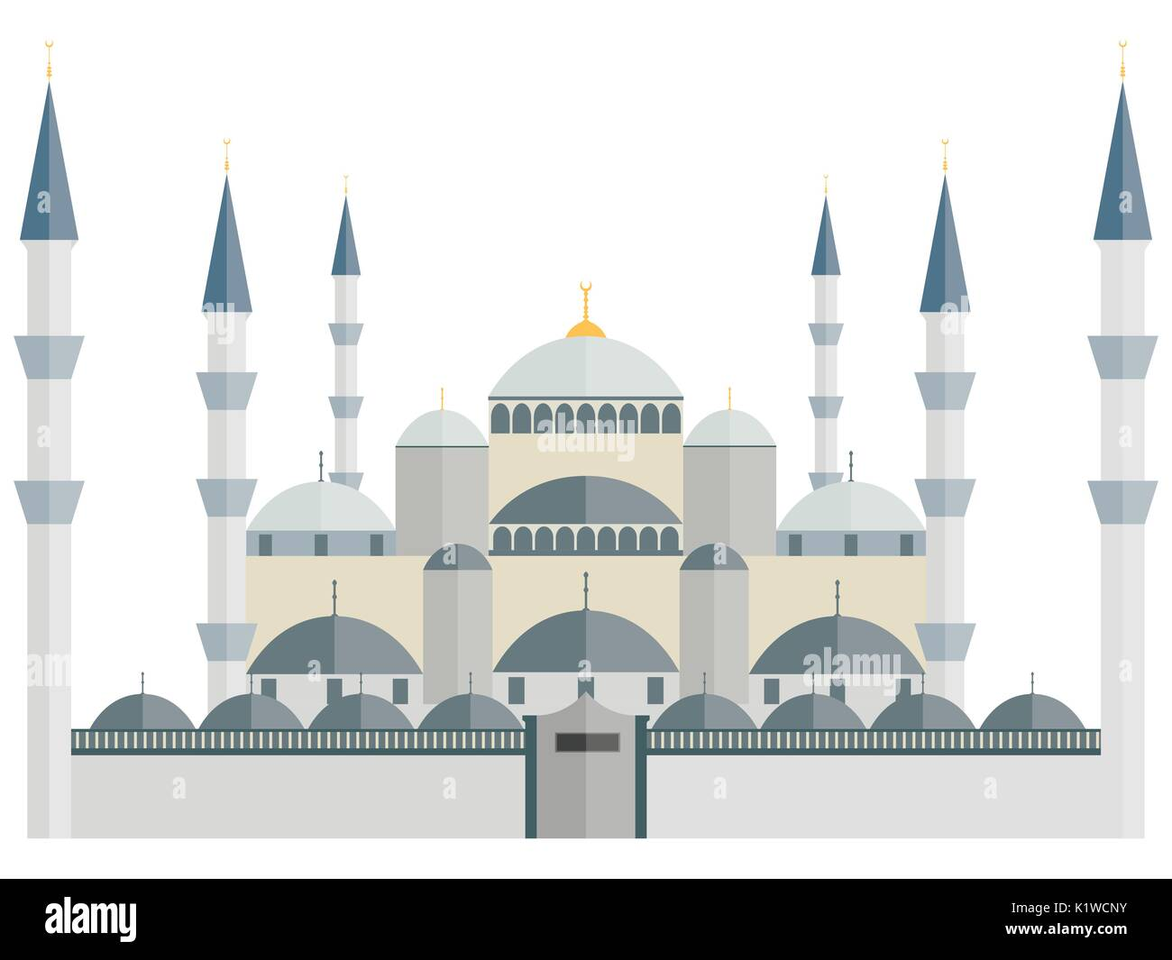 The Blue Mosque. Turkey. Istanbul. Wonders of the world. - Stock Image