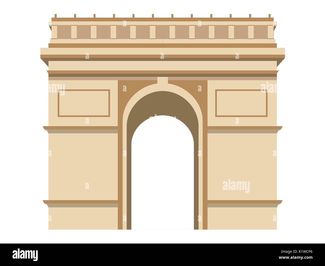 Triumphal Arch. Paris. - Stock Vector