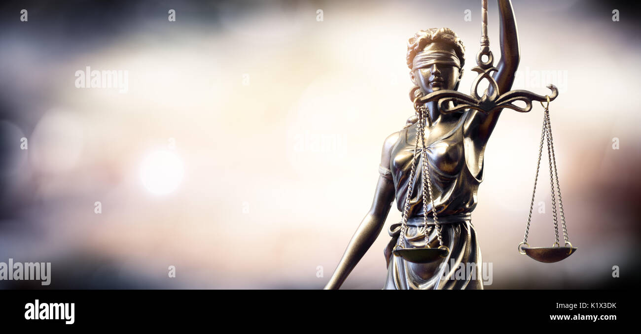 Statue Of Lady Justice - Stock Image