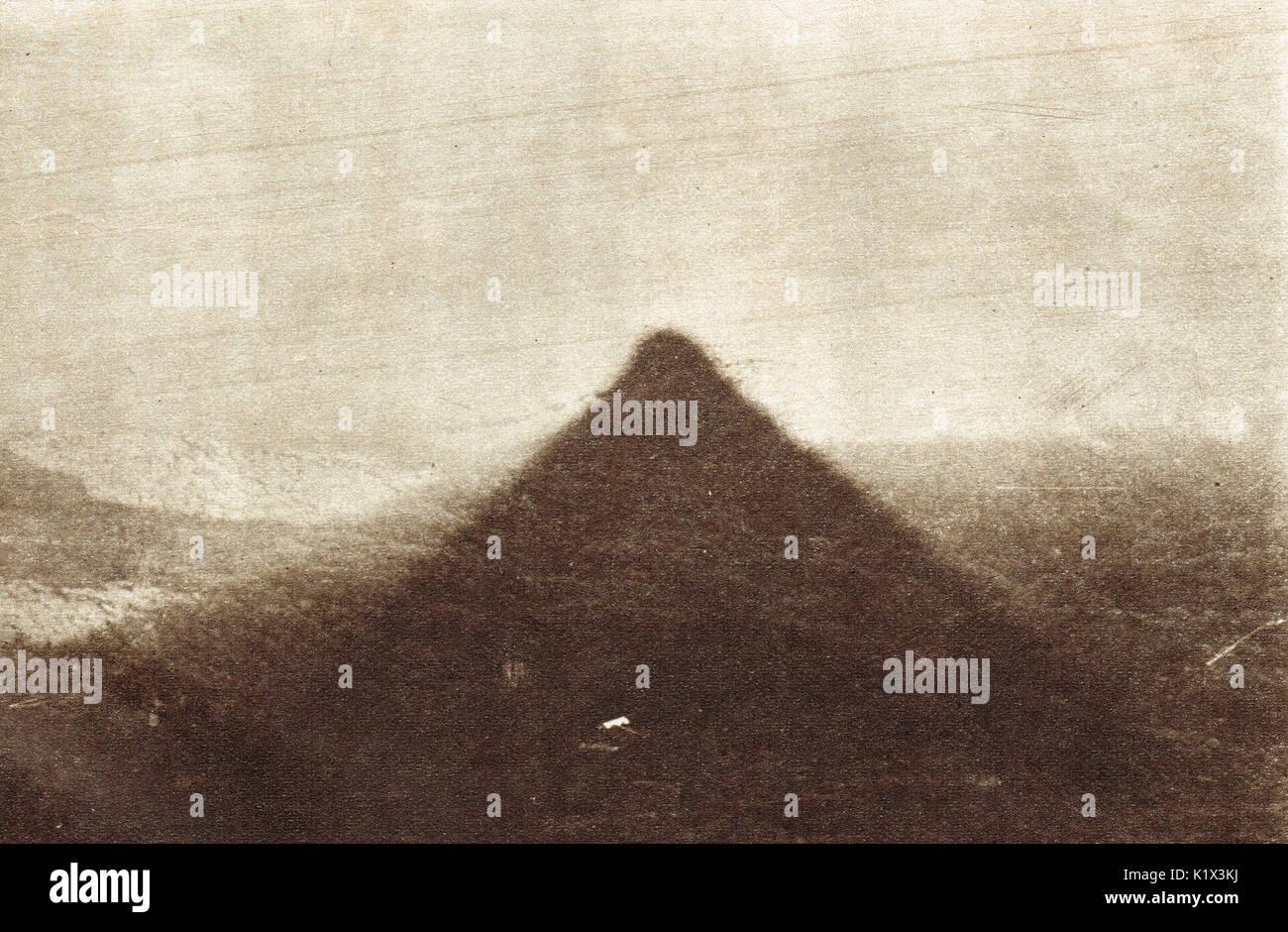 Phantom pyramid, Adam's peak, Sri Lanka - Stock Image