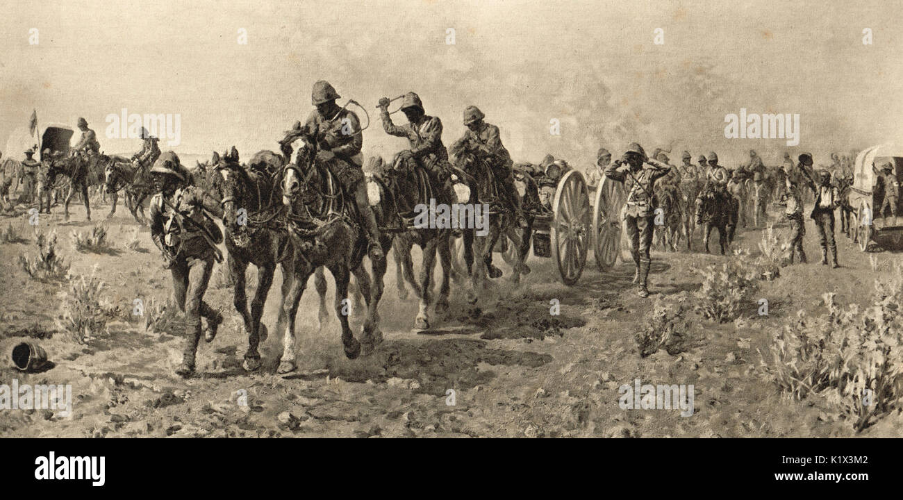 Battle of Modder River, Boer War, 1899 - Stock Image