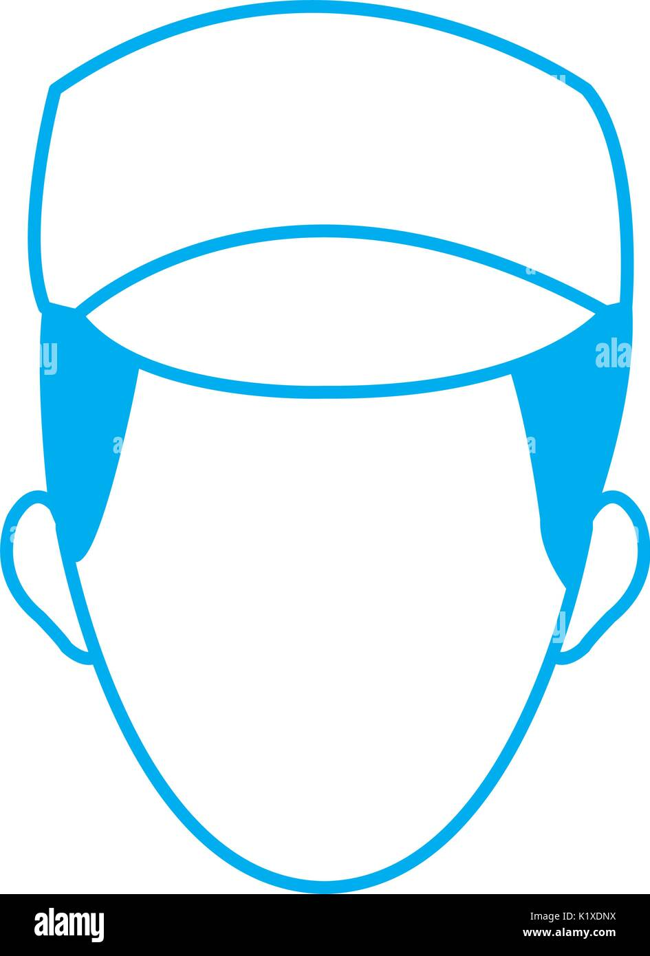 man face character people work profile image - Stock Image