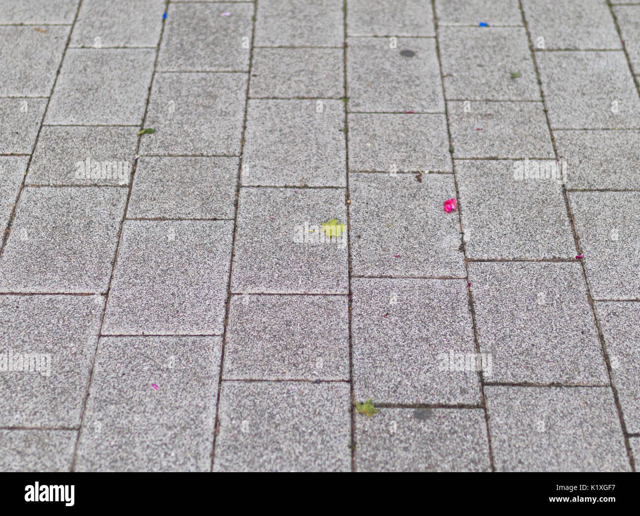 Bland, block paved pavemnt, urban setting background - Stock Image