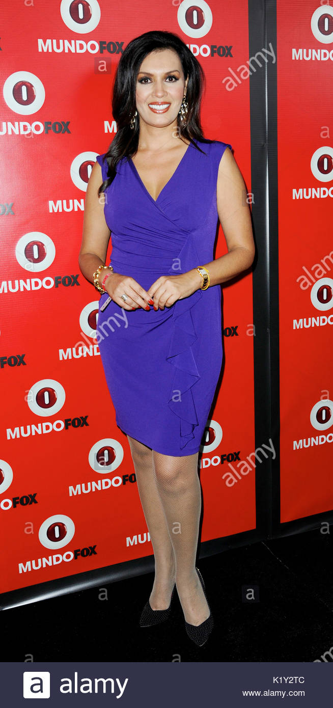 Palmira Perez. Fox in conjunction with RCN celebrates the launch of MundoFox, a new Spanish-language broadcast network, - Stock Image