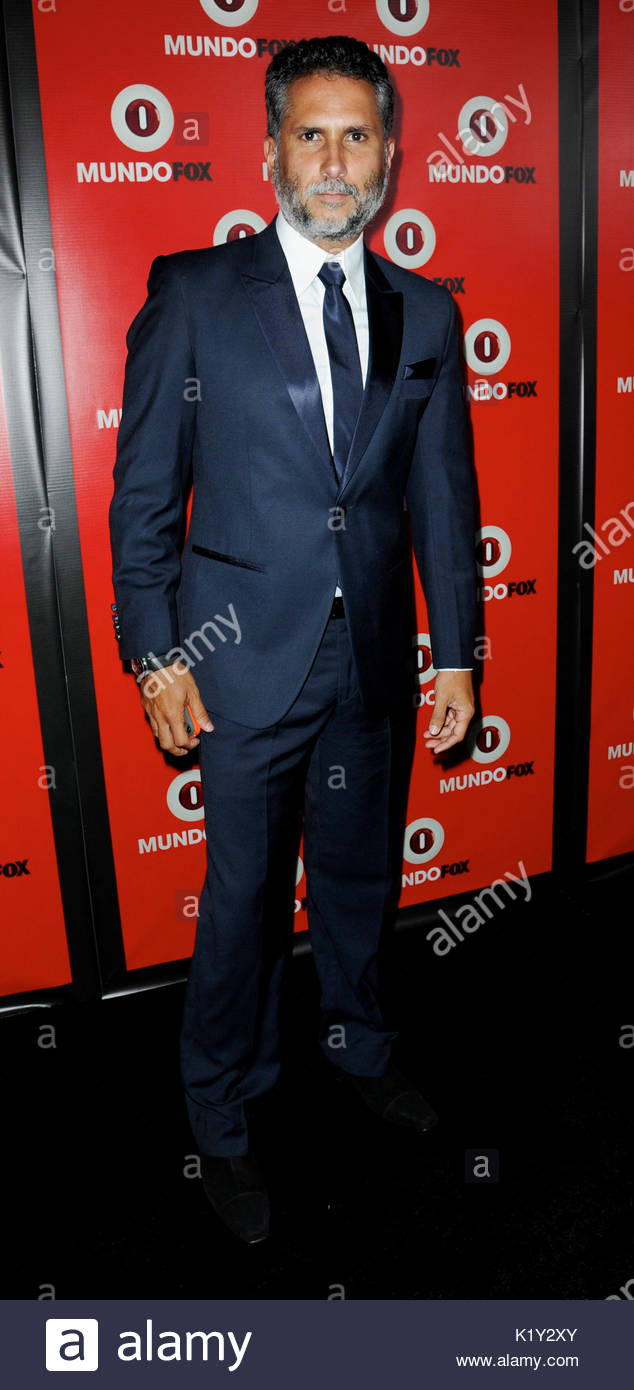 Marlon Moreno. Fox in conjunction with RCN celebrates the launch of MundoFox, a new Spanish-language broadcast network, - Stock Image