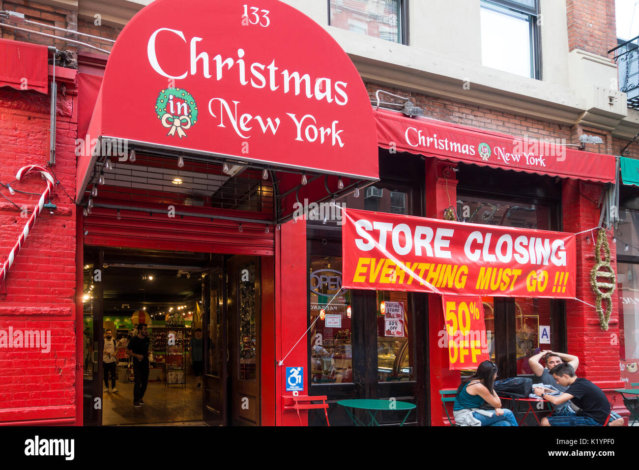 Little Christmas Italy.A Year Around Store In Little Italy In New York City Selling